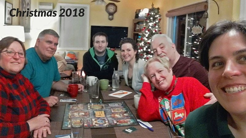 Tarin Rataic and family Christmas 2018